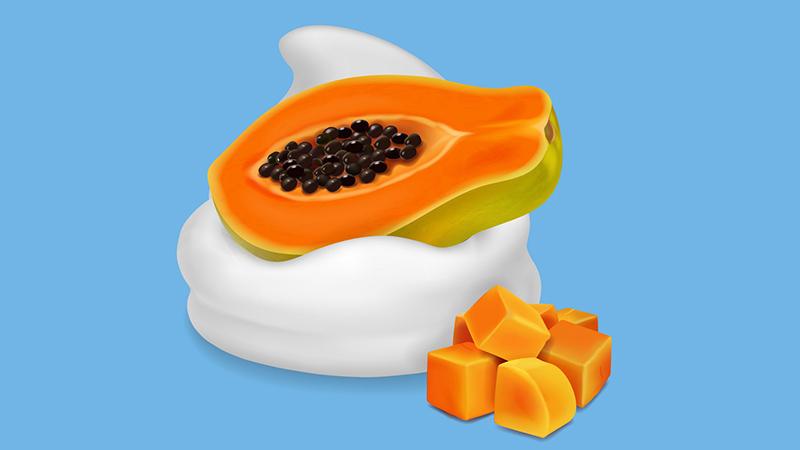 Đu đủ kết hợp với sữa chua sẽ có thêm tác dụng giữ ẩm và làm trắng da