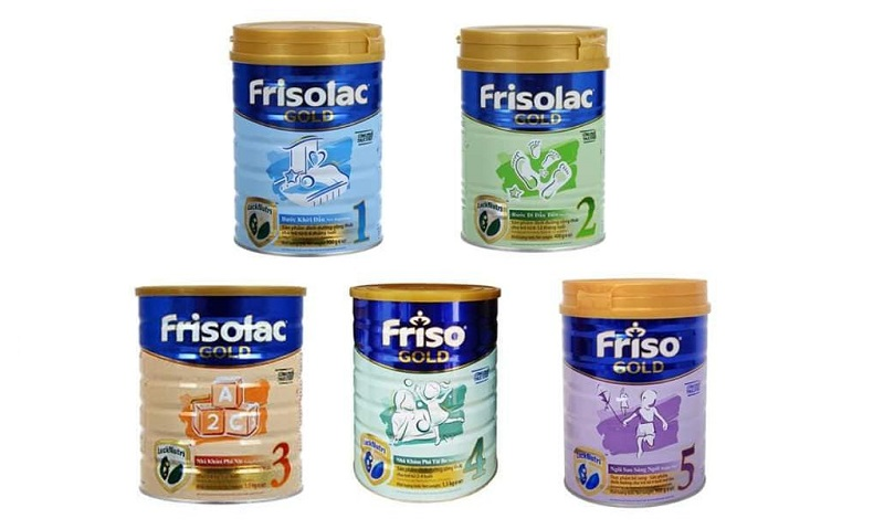 Sữa Friso Hà Lan có 4 dòng phù hợp với từng giai đoạn phát triển của trẻ