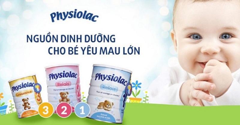 Sữa tăng cân cho trẻ Physiolac của Pháp