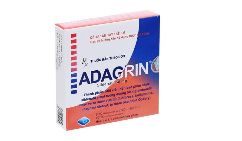 Thuốc Adagrin dùng để điều trị vấn đề sinh lý của nam giới
