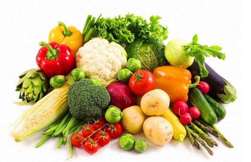 Rau, củ, quả tươi chứa nhiều vitamin và khoáng chất tốt cho làn da
