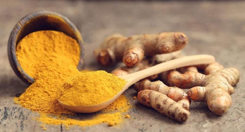 Nghệ vàng giàu hoạt chất curcumin có khả năng trung hòa axit và làm lành vết thương tổn hiệu quả