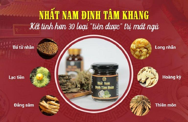 Các loại dược liệu sử dụng trong Nhất Nam Định Tâm Khang