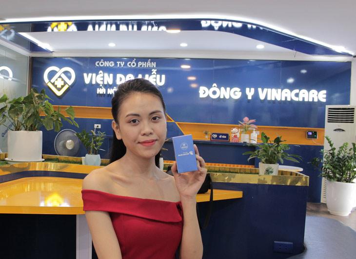 Làn da của chị Trang đã cải thiện rõ rệt sau khi trị mụn ở Viện Da liễu Hà Nội - Sài Gòn