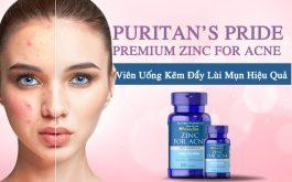 Puritan's Pride Premium Zinc For Acne cứu cánh cho làn da mụn