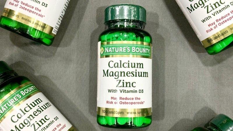 Viên bổ sung canxi Calcium Magnesium Zinc Nature's Bounty
