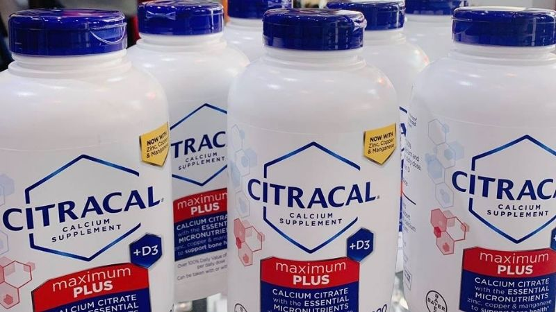 Viên bổ sung canxi Citracal