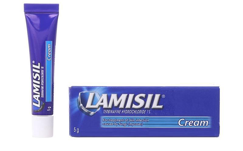 Thuốc trị hắc lào Lamisil có thành phần chính là Terbinafine