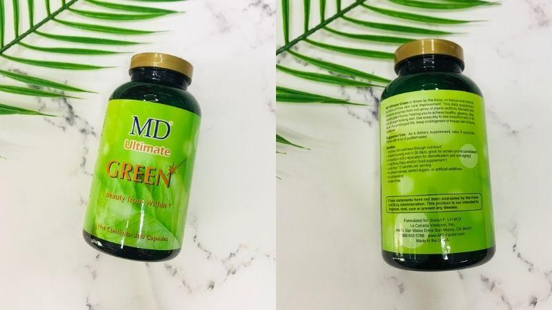 MD Ultimate Green chứa nhiều dưỡng chất giảm mụn hiệu quả