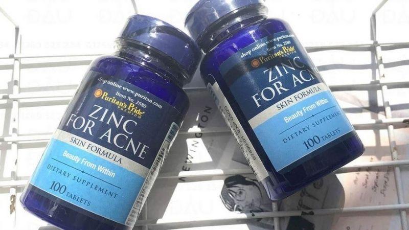 Trị mụn Puritan'S Pride Premium Zinc For Acne