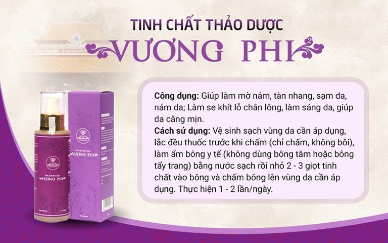 Tinh chất trị nám chân sâu Vương Phi - một sản phẩm từ thảo dược tự nhiên an toàn, hiệu quả cho mọi làn da