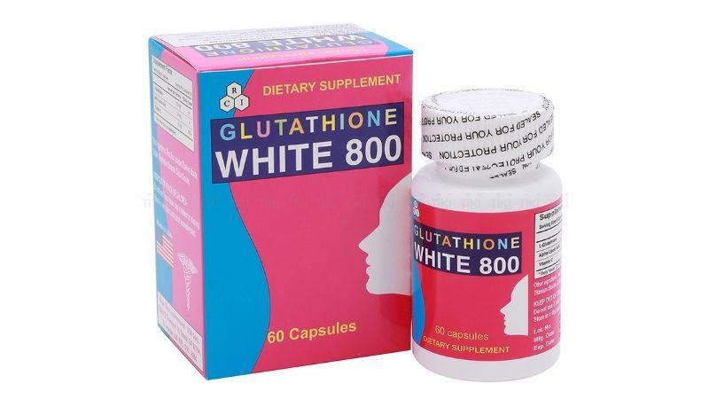 Glutathione White 800 cũng đem lại hiệu quả làm đẹp rõ rệt
