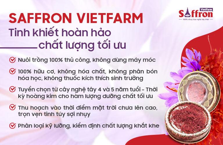 Saffron Vietfarm chất lượng tốt nhất thế giới nhờ chuẩn chỉnh, tối ưu từ nuôi trồng đến sản xuất, đóng gói