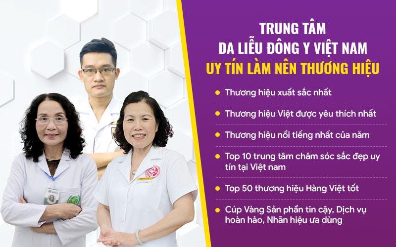 Những thành tích nổi bật của Trung tâm Da liễu Đông y Việt Nam