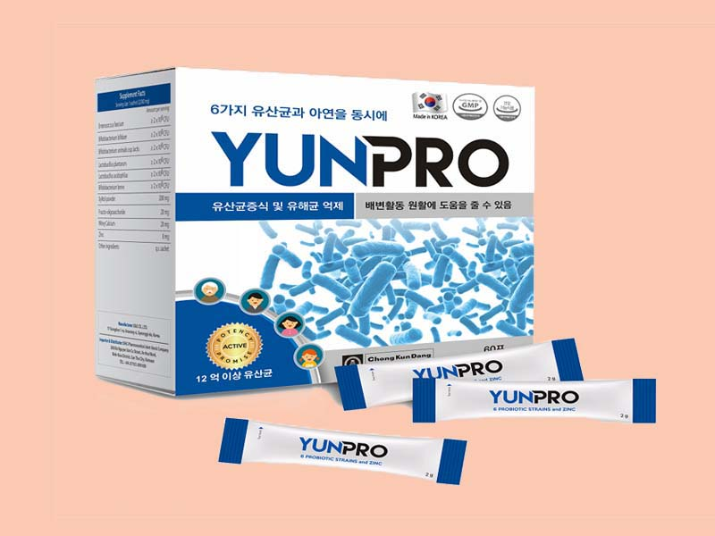 Sản phẩm hỗ trợ tiêu hóa cho trẻ Yunpro