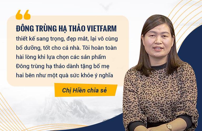 Khách hàng đánh giá cao về Đông trùng hạ thảo Vietfarm